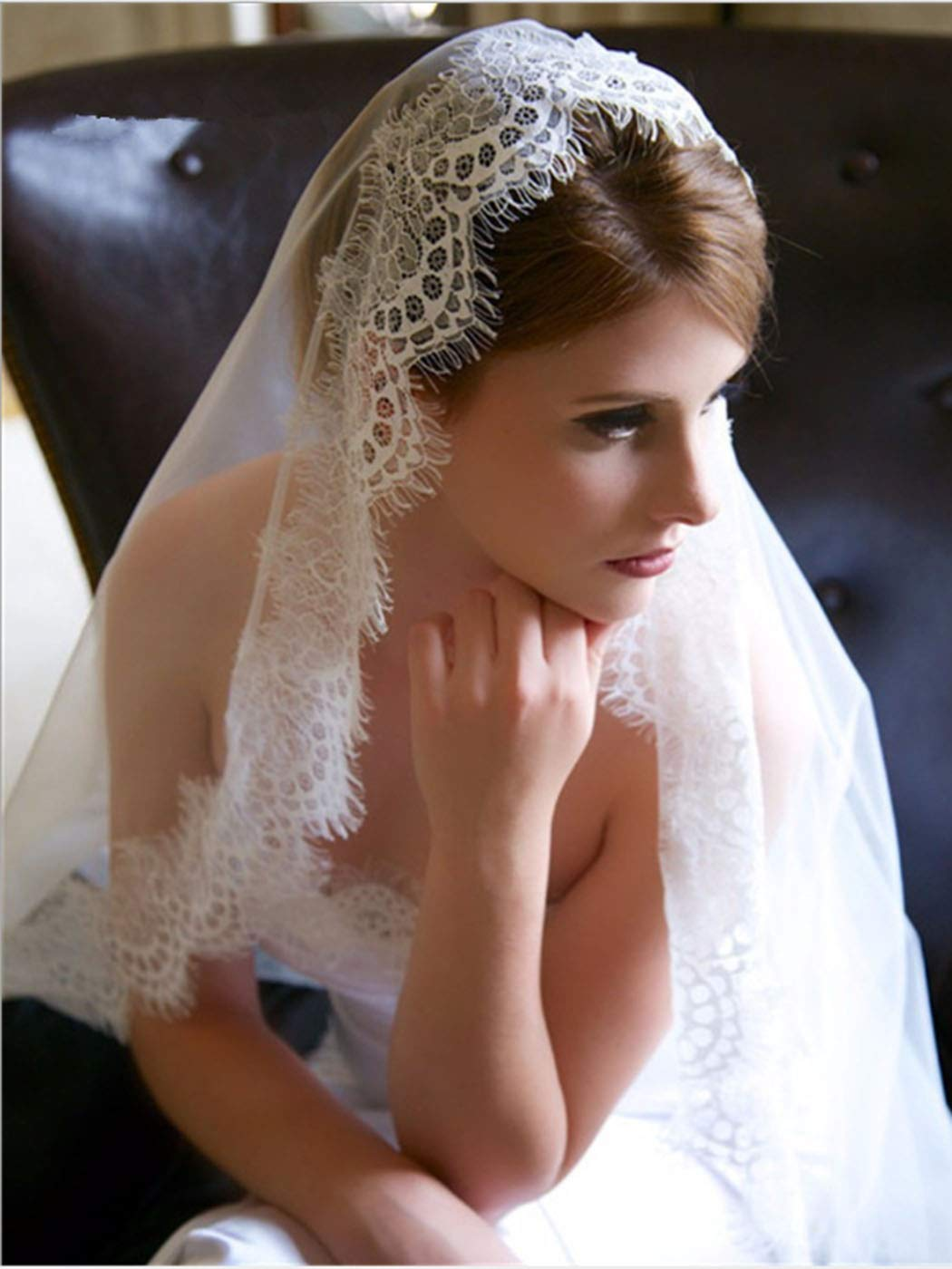 Bmith Bride Wedding Veil Cathedral Length Floral Lace Bridal Tulle Hair Accessories 118