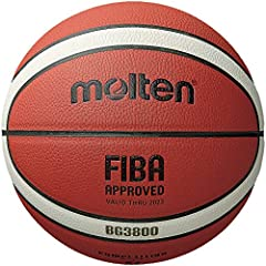 FIBA Approved Official 12 panel, 2-tone design Indoor/Outdoor synthetic cover Butyl Bladder 1 year , Ships deflated