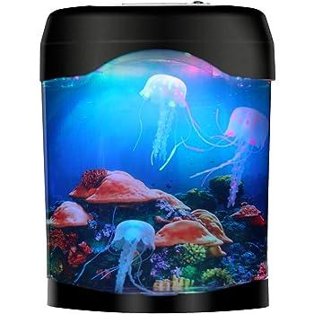 Jellyfish Lava Lamp, Gift for Kids Men Women Artificial Jellyfish Aquarium Tank Mood Night Light with Color-Changing Decorative Lamp