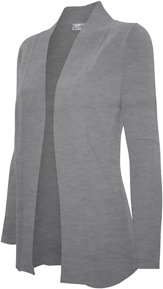 Cielo Women's Soft Sexy Open Front Drape Knit Shawl Cardigan Sweater