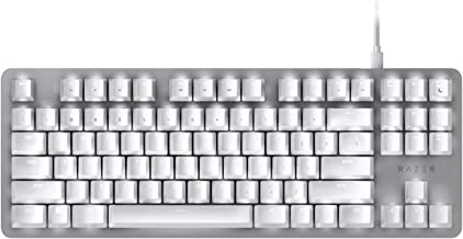 BlackWidow Lite Mechanical Tenkeyless Keyboard: Orange Key Switches - Tactile & Silent - White Individual Key Lighting - Compact Design - Detachable Cable - Mercury White