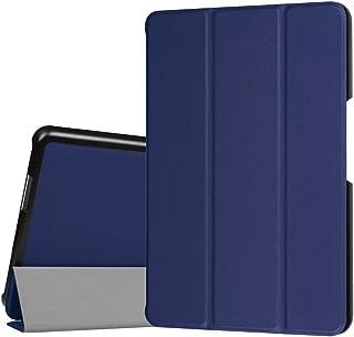 【CEAVIS】 ASUS ZenPad 3 8.0 Z581KL ケース スタンド機能付き 耐衝撃 折り畳み 横開き 軽量型 (ブルー)
