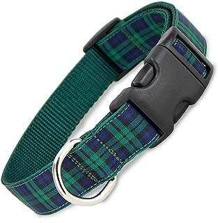 The Artful Canine Blackwatch Plaid Dog Collar, Medium Dogs, 22-35lbs (Collar: 3/4