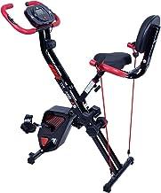 Uten Stille fitnessfiets, hometrainer, inklapbare fiets, advanced beentrainer, full-body oefening, lcd-display, 8 weerstan...