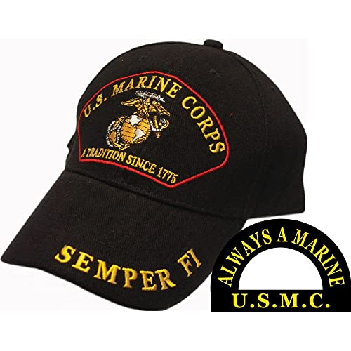 U.S. Marine Corps A Tradition Since 1775 Semper Fi Hat Black d3a7fd3f0a5d