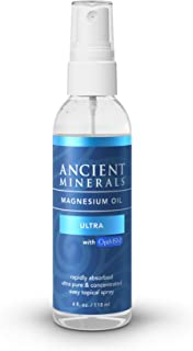 Ancient Minerals Magnesium Oil Spray Ultra with MSM - a Pure Zechstein Topical Magnesium Chloride Supplement with The Added Benefits of OptiMSM (4oz)