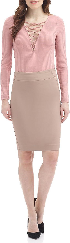 Rekucci Women's Ease into Comfort Fit Perfect Midi Pencil Skirt