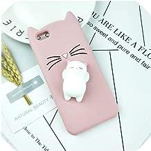 Case for iPhone 4 4S SE 5 5S 5C 6 6S 7 8 Plus X XR XS Max Squishy Cat Cover Mobile Phone Bags,HuXu Clear Cat,for iPhone 7,HuXuBlack,foriPhone5S,HuXuPinkCat,foriPhoneSE