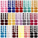16 Sheets Full Wraps Nail Art Polish Stickers Decal Nail Strips Adhesive False Nail Design Manicure Set (color10)