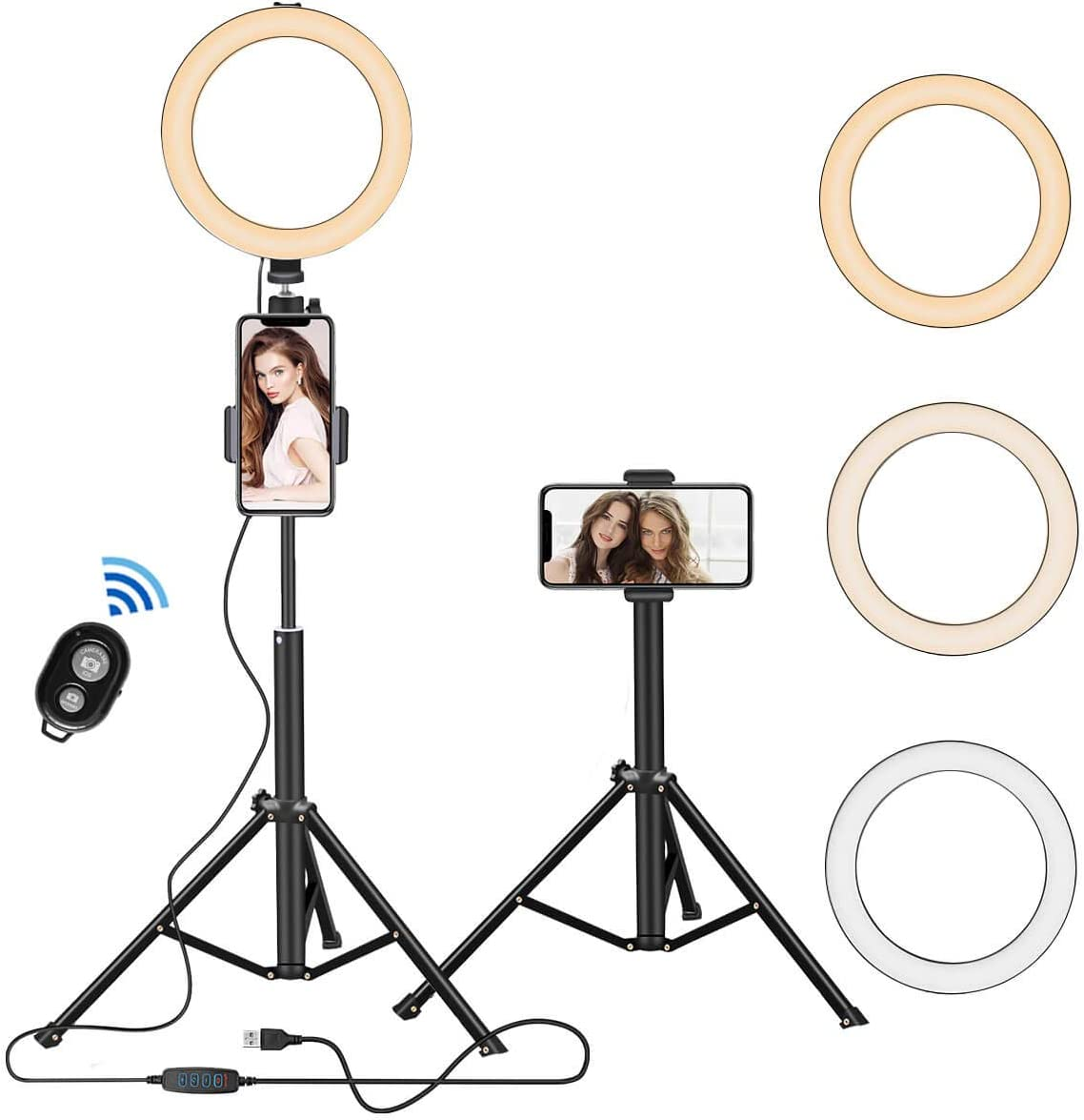 """8"""" Selfie Ring Light with Tripod Stand Genuine Phone Cell Holder Regular discount"""