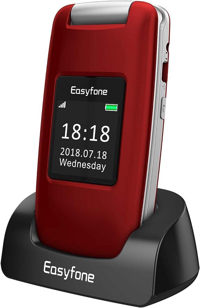 Easyfone prime a1 3g telefono cellulare a conchiglia per anziani Prime-A1