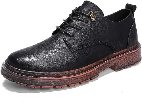 JIALUN-des Chaussures Simple Mode Oxford Décontracté Simple Chaussures Ultra-Confortables et et Confortables à Lacets pour Hommes (Couleur   Noir, Taille   40 EU)  pratique