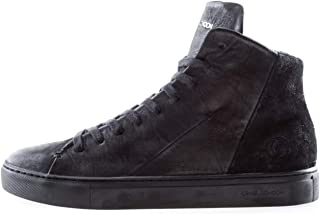 Crime London Art. 11670AA Sneaker Uomo in Pelle e camoscio Nera (Numeric_41)