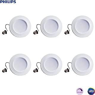 "Philips 801274 LED myLiving Dimmable 5""/6"" Downlight Recessed Lighting Fixture: 700-Lumens, 5000-Kelvin, 11 (65-Watt Equivalent), E26 Medium Screw Base, Daylight, 6-Pack (Renewed)"