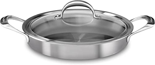 discount KitchenAid 5-Ply Copper Core 3.5 quart discount Braiser with Lid - Stainless 2021 Steel, Medium, Stainless Steel Finish online sale