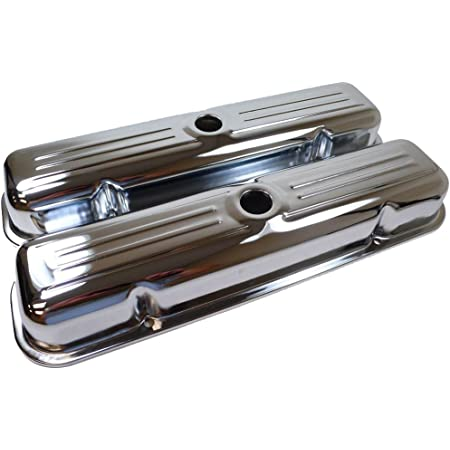 Assault Racing Products A9461 for Pontiac V8 Short Chrome Steel Valve Covers 301 350 389 400 421 428 455
