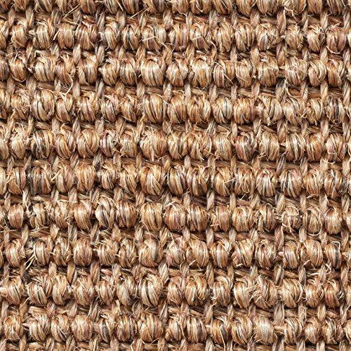 Teppichboden Auslegware | Sisal Naturfaser Schlinge | 400 cm Breite | braun beige natur | Meterware, verschiedene Größen | Größe: 7 x 4m