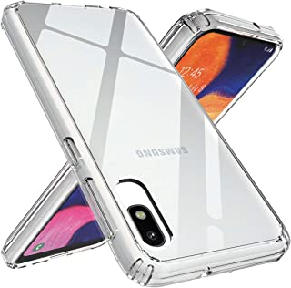 Ouba Galaxy A10e Case, [Shock Absorbing] Air Hybrid Slim Thin Shockproof Armor Anti-Drop Crystal [Clear] Back + TPU Bumper Protective Case Cover Compatible for Samsung Galaxy A10e - Clear