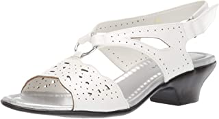 Easy Street Women's Excite Dress Sandal with Cutouts, White 10 N US