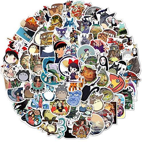 NANANA Miyazaki Hayao Anime Pegatinas Spirited Away Pegatinas Para Motocicleta Tronco Refrigerador Portátil Scooter Juguetes Sticker 100 Unids