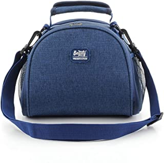 """TRAVAN Lunch Bag Insulated Lunch Box Lunch Tote Reusable Lunch Bag for Women Men Children College Work Picnic Hiking Beach Fishing Boating 9""""x6.5""""x8"""" Navy"""