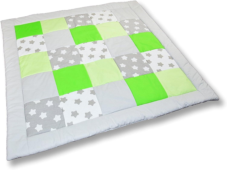 Amilian® Krabbeldecke Patchworkdecke Spieldecke Decke (M023) (125x125 cm) B01EQ3T1MO  Großer Räumungsverkauf     | Gemäßigten Kosten