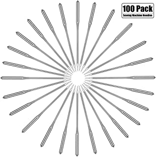 100 Pcs Universal Household Sewing Machine Needles Compatible with Singer, Brother, Janome, Bernina-Assorted Sizes 65/9, 75/11, 90/14, 100/16, 110/18 by HOWRIN