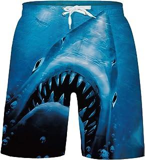 c0a786b315 uideazone Boys Teens Swim Trunks Quick Dry Waterproof Surfing Board Shorts  Drawstring Elastic Waist with Mesh
