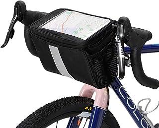 Bolsa de Almacenamiento de Tubo Superior para la Barra de Manillar de Ciclismo para MTB Road Mountain Bike VGBEY Bolsa Delantera para Bicicleta