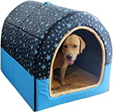 ZRL77y 2 in 1 Pet House and Sofa,Large Dog Kennel Removable and Washable Pet Nest Medium Dog Dog Kennel Indoor and Outdoor...