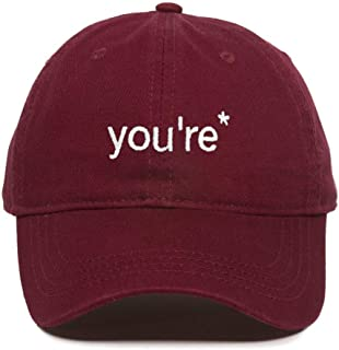 You're a Grammar Police Baseball Cap Embroidered Cotton Adjustable Dad Hat