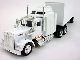 Kenworth W900 White Trailer Truck 1/43 Scale Diecast Metal Model