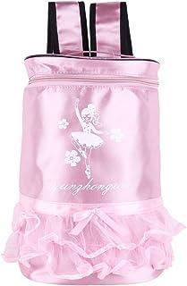 Tiaobug Adorable Kids Ballet Dance Bag Ballerina Dancing Print Ruffle Tutu Bag Shoulder Backpack Girls Gym Sports Dance Rucksack Coin Purses & Holders