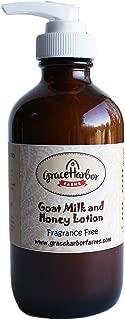Goat Milk and Honey Lotion, Fragrance Free 8 oz
