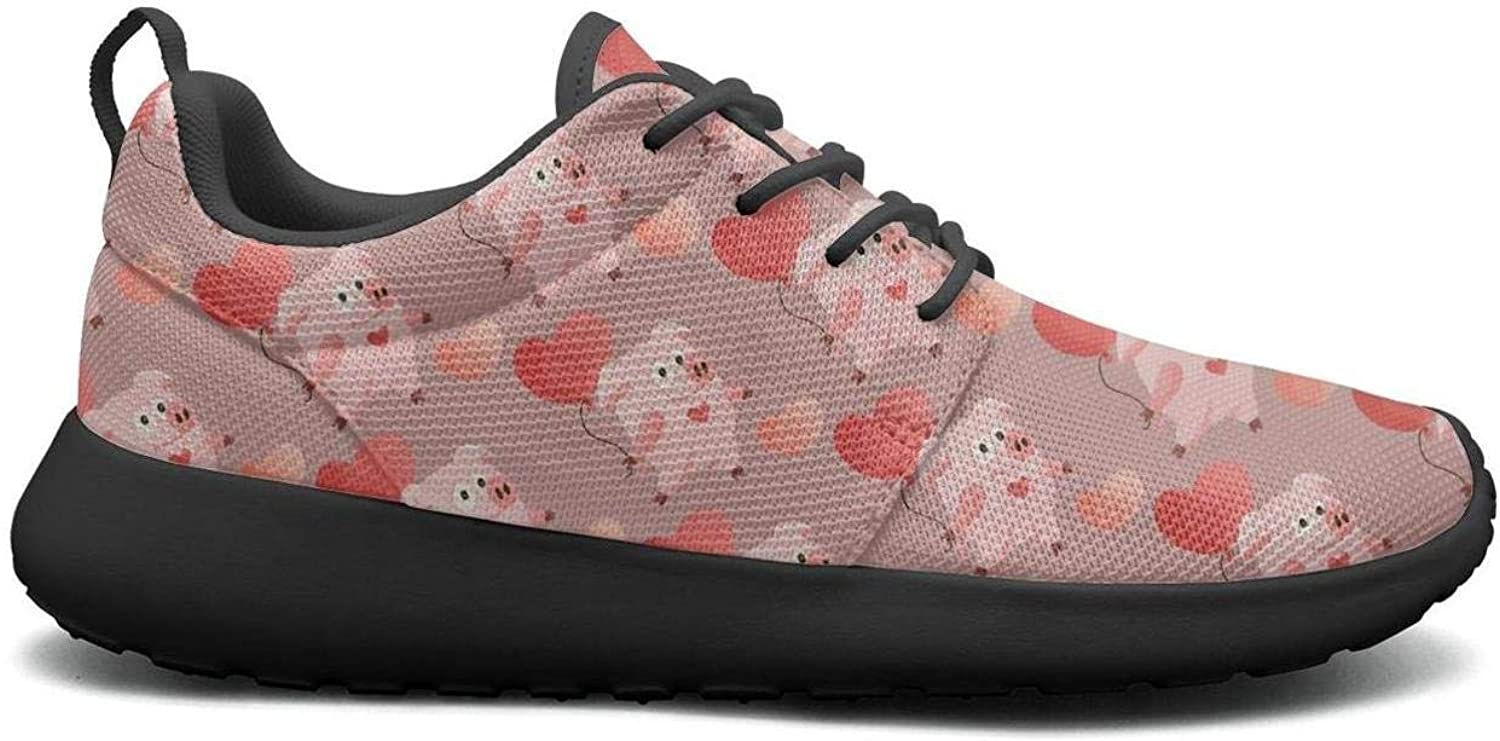 Gjsonmv New Year 2019 Pig with Valentine's Day mesh Lightweight shoes for Women Fashion Sports Gym Sneakers shoes