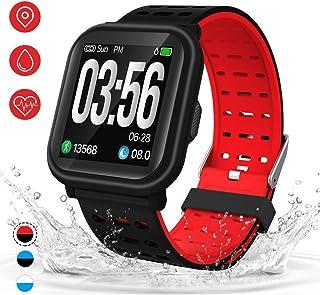 Reloj inteligente AKASO HR, rastreador de actividad con monitor de frecuencia cardíaca, podómetro, contador de pasos, contador de calorías, monitor de sueño para hombres, mujeres y niños
