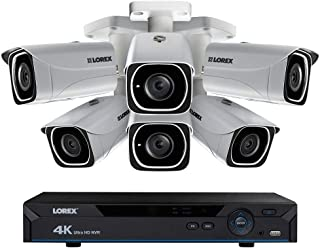 Lorex Weatherproof Indoor/Outdoor Home Surveillance Security System, 8MP Ultra HD IP Bullet Cameras w/Long Range Color Night Vision (6 Pack) – Includes 8 Channel 4K DVR w/ 2 TB Storage Hard Drive