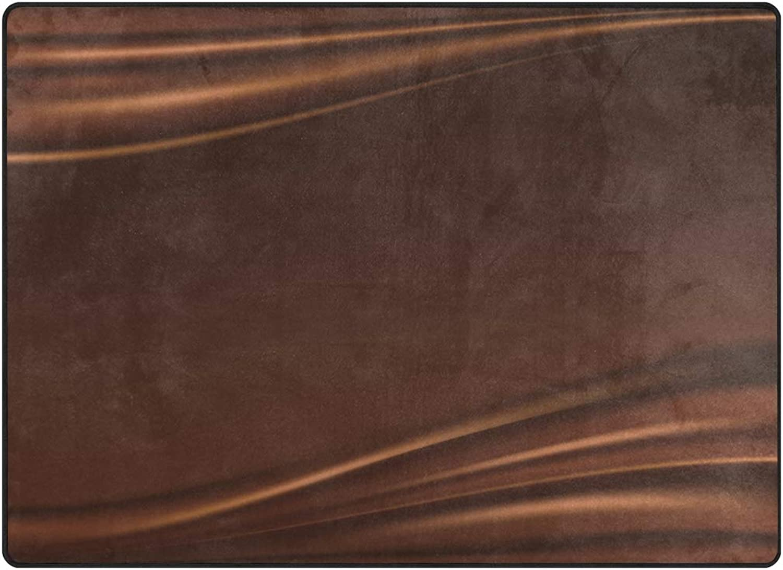 FAJRO Delicious Molten Silk Chocolate Polyester Entry Way Doormat Area Rug Multipattern Door Mat Floor Mats shoes Scraper Home Dec Anti-Slip Indoor Outdoor