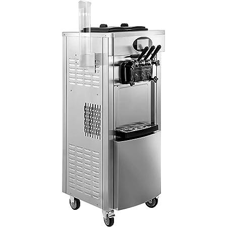 VEVOR Machine à Crème Glacée Verticale Professionnel Sorbetière à Glace Commerciale Ice Cream Machine pour Restaurants, Cafés, Fast-Foods