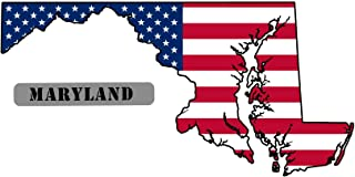 Jeep Grill Skins Maryland State USA American Flag Sticker Decal