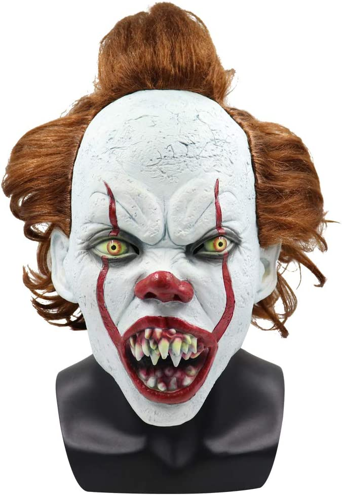 Bulex Creepy Clown Mask Halloween Costume Prop Indianapolis Mall Evil New sales Teeth