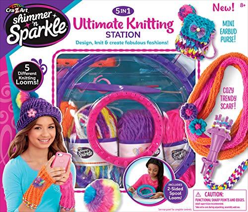Cra-Z-Art Shimmer 'n Sparkle 5-in-1 Ultimate Knitting Station