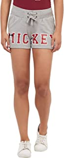 Mickey & Friends By Free Authority Women's Regular Fit Cotton Shorts
