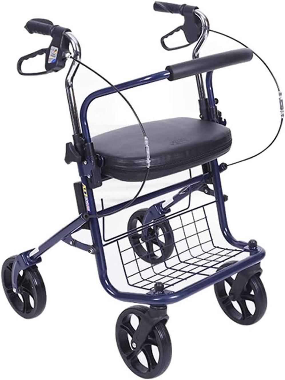 DONGSHUAI All items in the store Walking Frame Lightweight Steel Car Rollator Wheels 4 Elegant