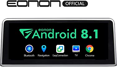 Single Din Car Stereo, Eonon 10.25 Inch HD Touchscreen Car Radio, Compatible with iDrive System Support Android Auto/Apple Carplay/Bluetooth/WiFi/Fast Boot/Backup Camera/OBDII- GA9203NB