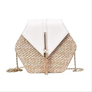 Rivadal Hexagone Straw Shoulder Bag Sac /à bandouli/ère d/ét/é pour Femme Fille Sacs /à Main Style boh/ème Plage Messenger
