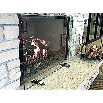 Design Specialties Glass Free-Standing Screen, GSFRSCN3826, Dark Pewter Handles and Feet, Small