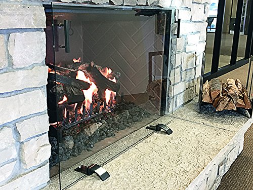 Great Deal! Design Specialties Glass Free-Standing Screen, GSFRSCN4129, Dark Pewter Handles and Feet...
