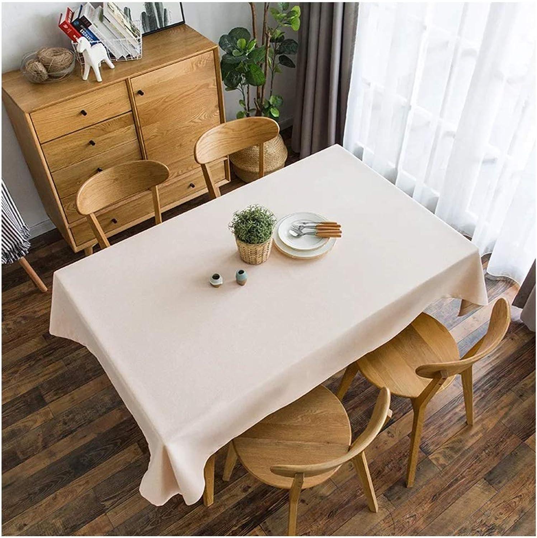 Hyjgjzjh Nappe de Coton Pure de Nappe de Coton de Nappe rectangulaire de Grande Nappe pour la Cuisine Tache de Nappe d'été en Tissu Anti-poussière (Couleur   A, Taille   140×180cm)