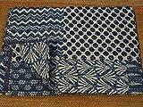 Copriletto Kantha con motivo cachemire Copriletto Kantha realizzato a mano Dimensione doppia 152,4x 228,6cm